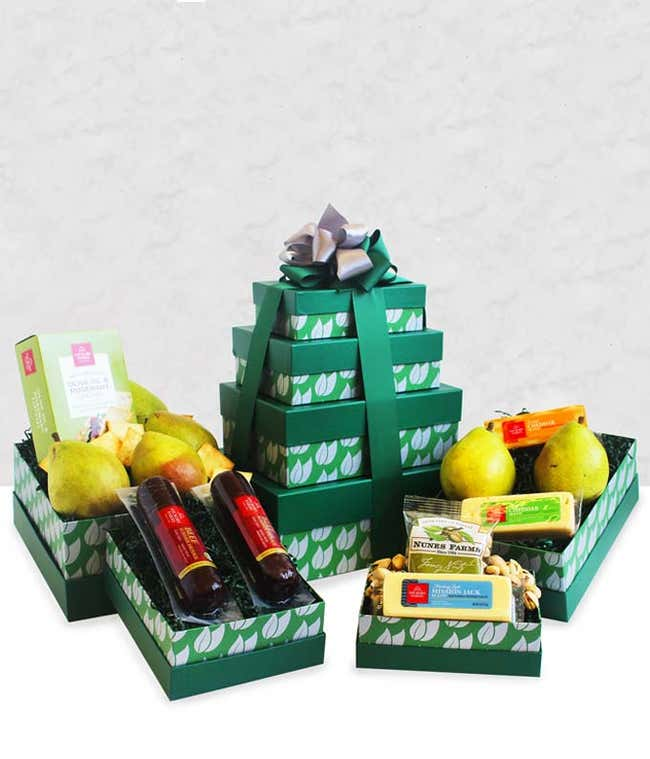 Healthy Snacks Gourmet Gift Tower