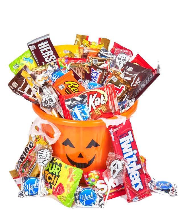 Jack-O'-Lantern Halloween Candy Gift