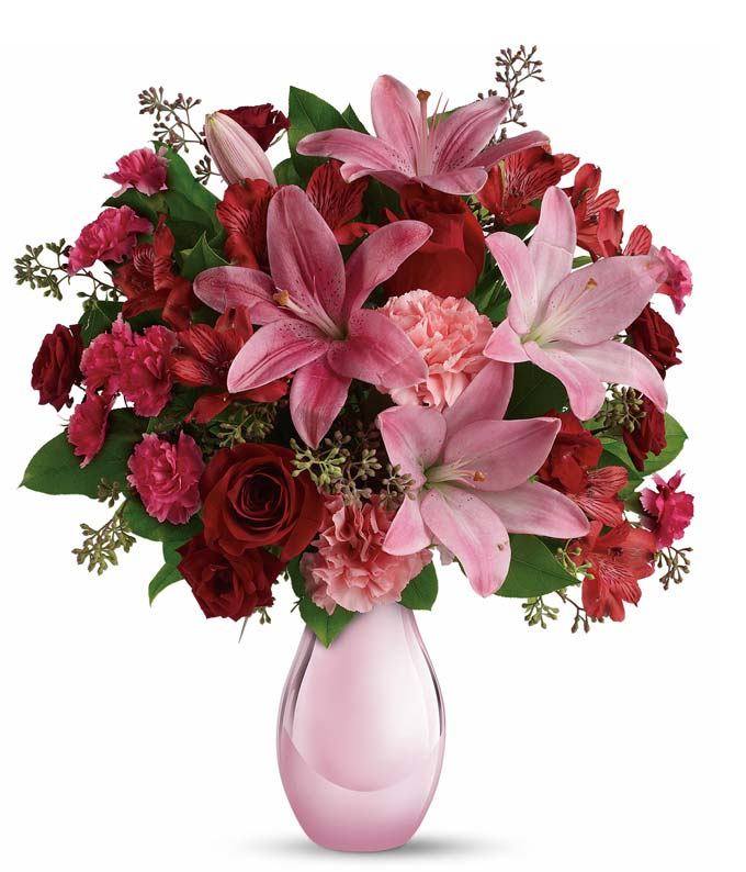 Roses and Pearls Bouquet