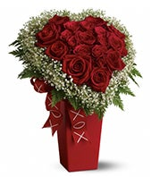 Heart and Soul - Deluxe: Red Roses, Valentine's Day Roses-FromYouFlowers.com