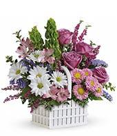 White Picket Flower Bouquet