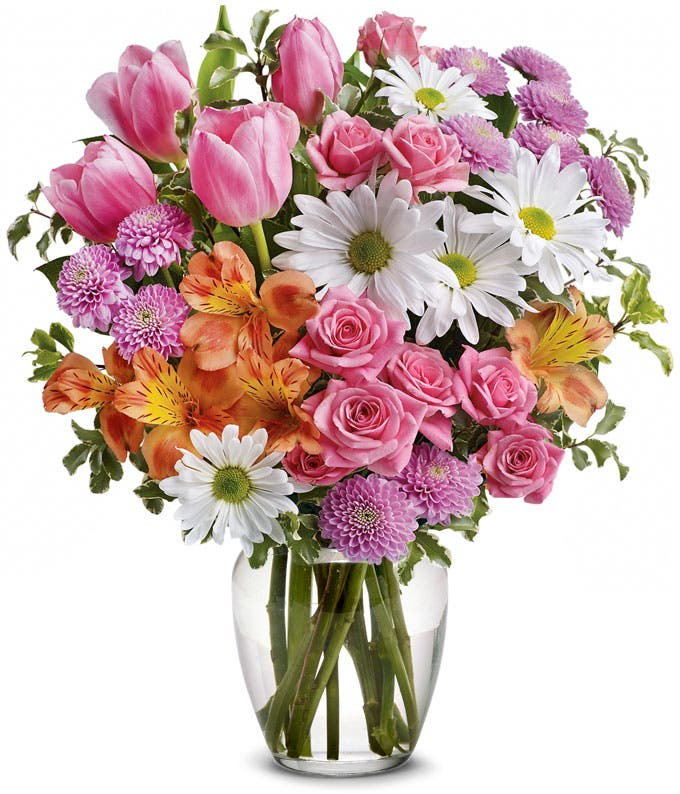 Spring Watering Can Floral Bouquet