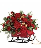 St. Nicholas Sleigh Bouquet