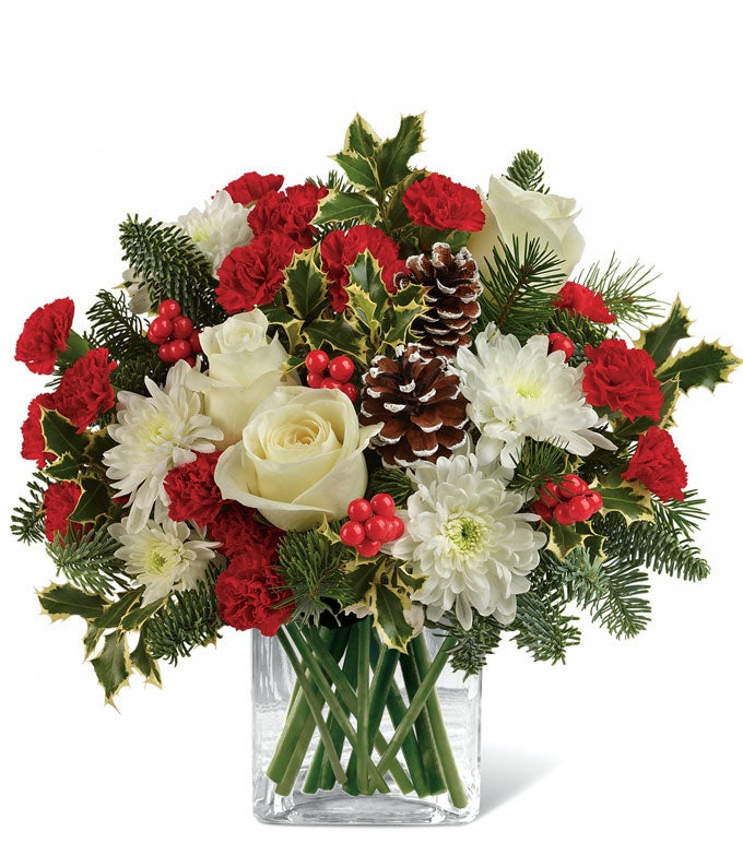 Christmas Bear Hug Bouquet
