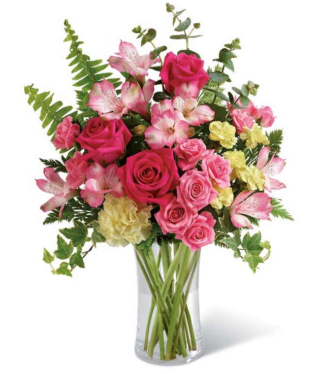mothers day flower delivery with roses and hydrangea