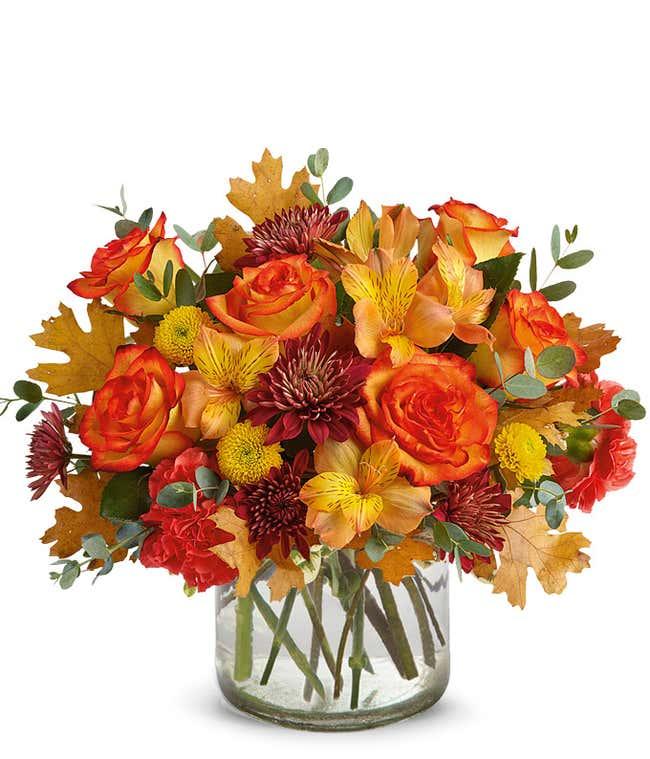 Birch container flower bouquet