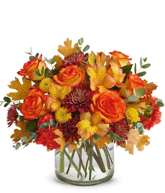Birch container flower bouquet