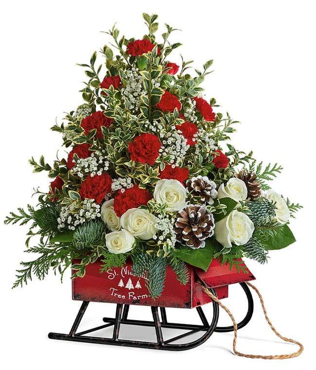 Santa's Sleigh Tree Bouquet
