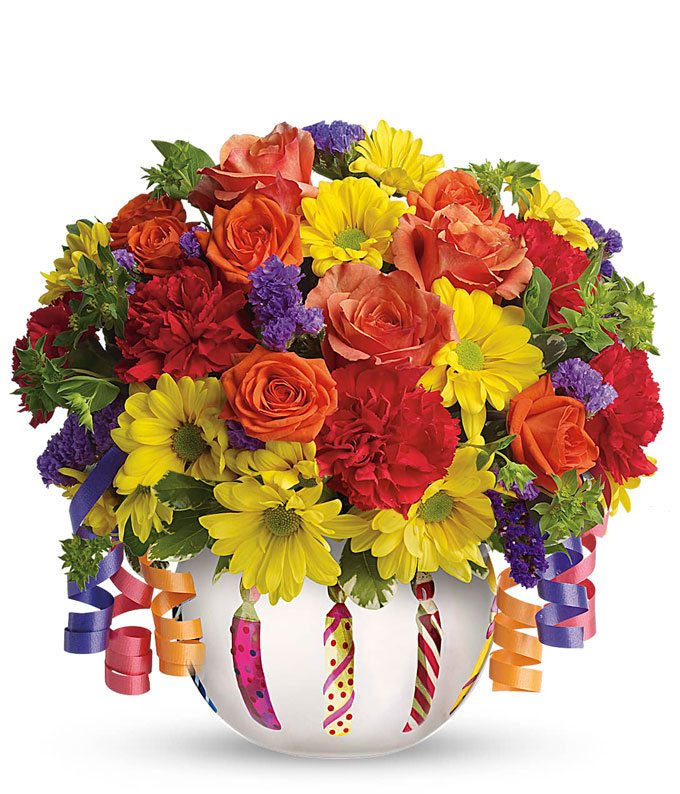 Brilliant Birthday Blooms Bouquet