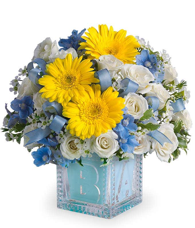 Baby's First Blue Block Bouquet