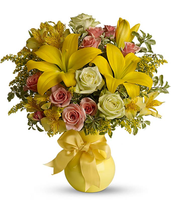 Sunny Smiles: Roses, Lilies, Get Well Flowers-From You Flowers