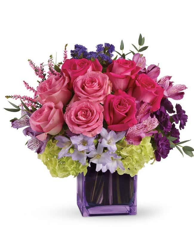 Exquisite Beauty Pink & Purple Bouquet