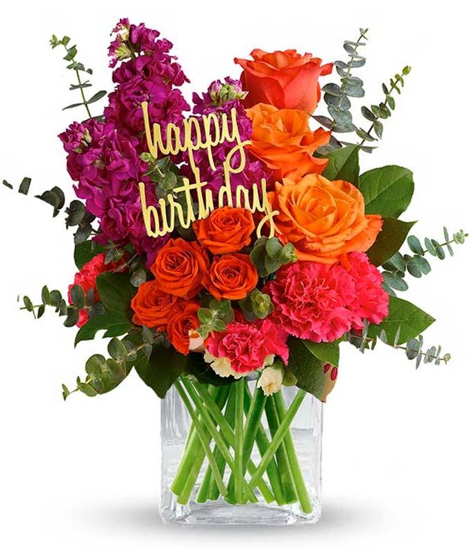 bright flower birthday bouquet
