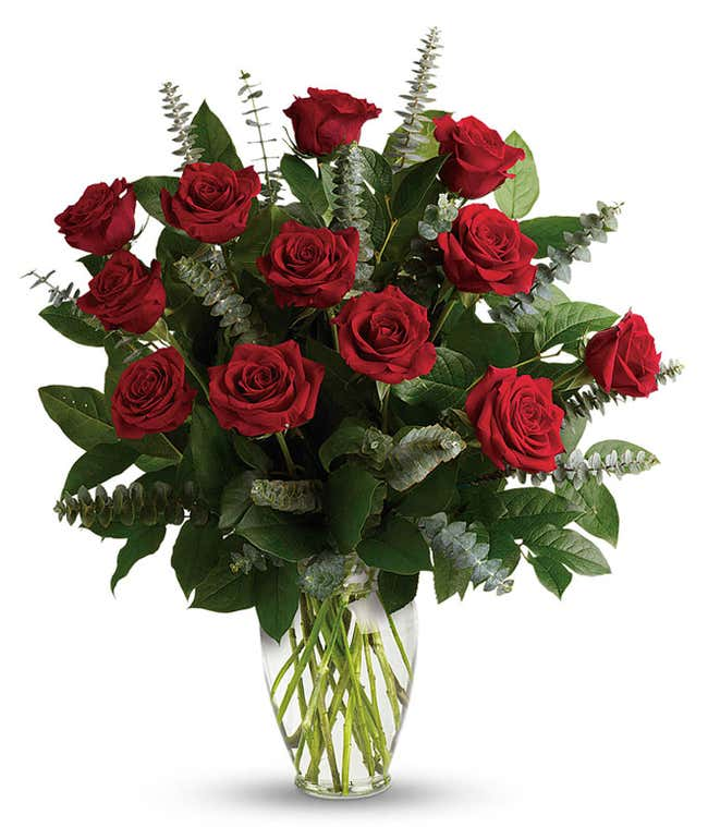 Grand red rose bouquet
