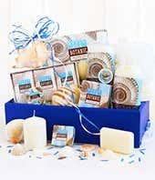 Ocean themed spa gift basket