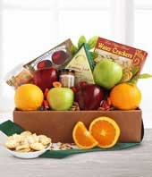 Fresh fruit, cheese and almonds for delivery