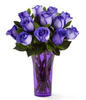 Festive Purple Rose Bouquet