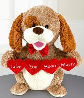 Puppy Love Musical Plush Dog