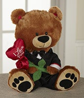 Dressed Up for Love Plush Teddy Bear