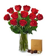 Red Rose Bouquet with Godiva® Chocolates