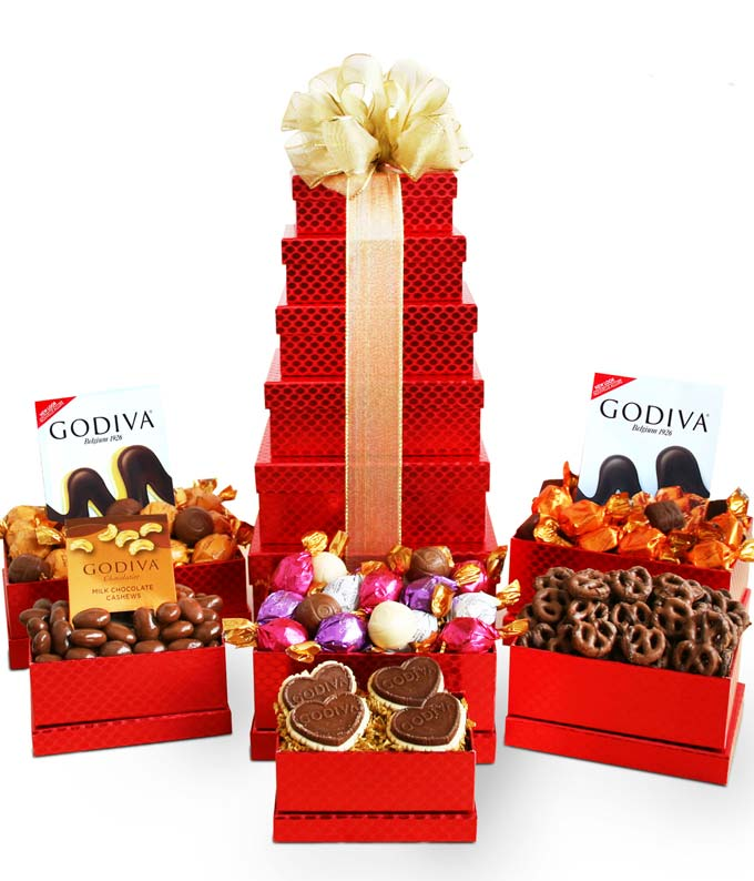 Godiva holiday chocolate gift basket