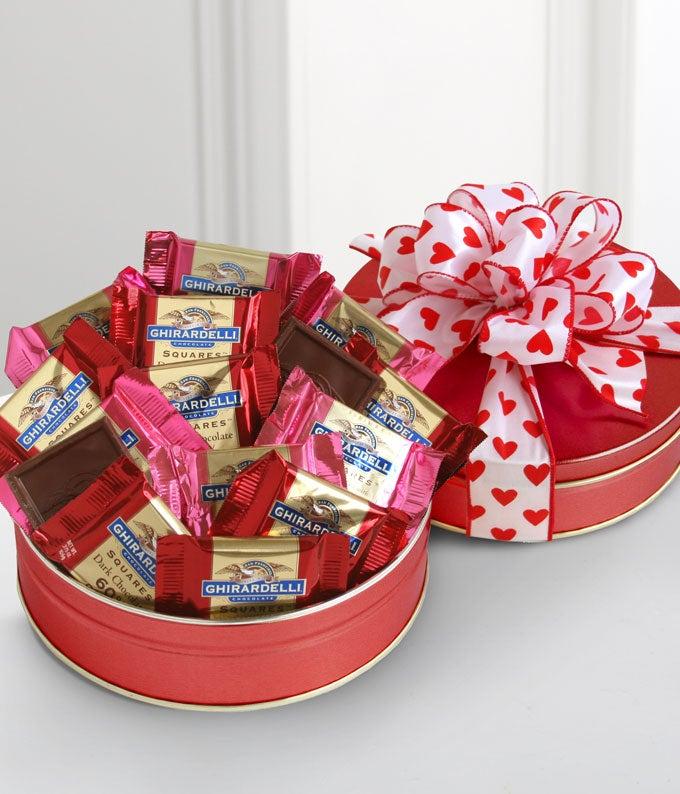 Ghirardelli� Valentine's Day Chocolate tin