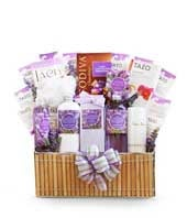 Premium Fields of Lavender Spa Basket