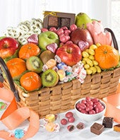 Spring Sensation Fruit & Sweets Gift Basket