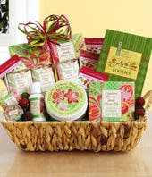 Passion Flower Spa Basket