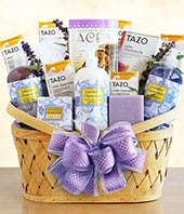 Luxurious Lavender & Tea Spa Basket