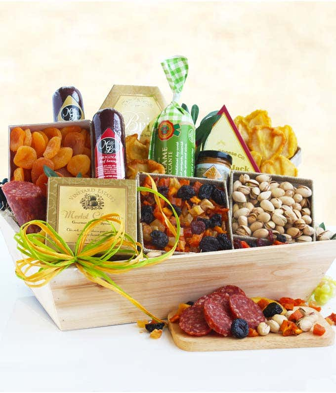 Meat & Cheese Wooden Gift Crate - Better