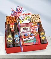 American Snack and Soda Basket