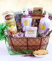 Lavender Spa & Goodies Gift Basket