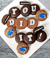 Graduation Chocolate Covered Oreos