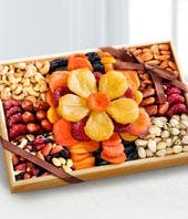 Large Flowering Dried Fruit & Nut Tray
