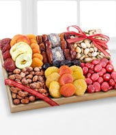 Season's Snacks Holiday Dried Fruit, Nuts & Sweets Tray -GOOD