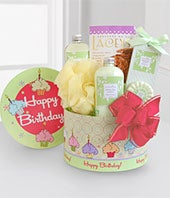 Birthday Spa Gift Basket