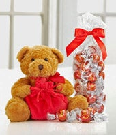 Lindt Holiday Bear with Truffles