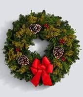 Golden Rings Wreath