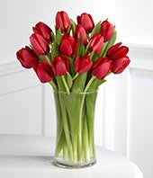 Red Carpet Ready Tulip Bouquet - 15 Stems