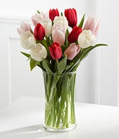 Here in My Heart Tulip Bouquet - 15 Stems