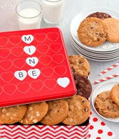 Mrs. Fields Valentine Cookie Tin