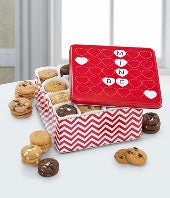 Mrs Fields�  Happy Valentine Day Tin- 96 Nibblers�