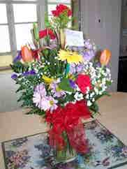 mixed flowers ordered by Columbus, Ohio customer