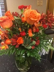 orange bouquet delivered to fort worth, texas