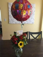 Philadelphia customer birthday flowers